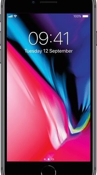 Apple iPhone 8 (64GB Space Grey Used Grade A) at £9.00 on Red (24 Month(s) contract) with UNLIMITED mins; UNLIMITED texts; 24000MB of 5G data. £43.00 a month.