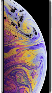 Apple iPhone XS (64GB Silver Used Grade A) at £49.00 on Red (24 Month(s) contract) with UNLIMITED mins; UNLIMITED texts; 24000MB of 5G data. £63.00 a month.