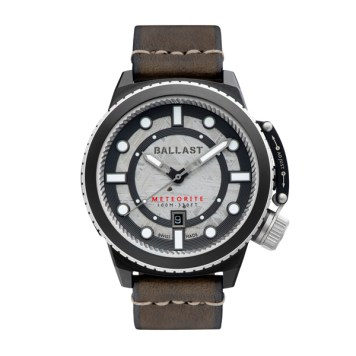 Ballast Gent's Trafalgar Ltd Edt Swiss Automatic Watch with Meteorite Dial and Genuine Leather Strap