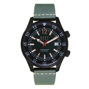 CCCP Gents Black Sea Automatic Watch with Genuine Leather Strap
