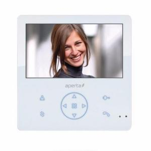 ESP Aperta Colour Video Door Entry Monitor with Record Facility - White