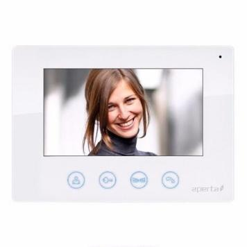 ESP Aperta White Colour Video Door Entry Monitor for Multi Intercom System