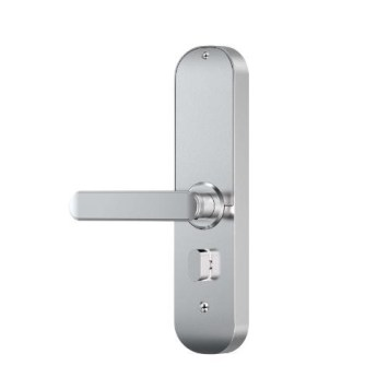 Ener-J WiFi Smart Door Lock Left Handles (Black, Silver) - Silver