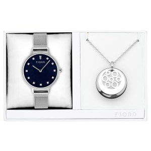 Fjord Ladies' Niklaas Watch with Milanese Strap and Necklace Gift Set