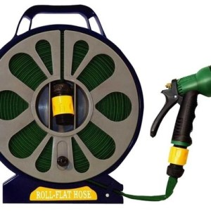 Green Blade 15m Flat Hose with Spray Nozzle