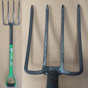 Green Blade Digging Fork with Steel Shaft