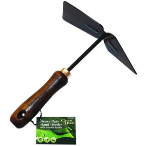 Green Blade Hand Weeder with Wooden Handle