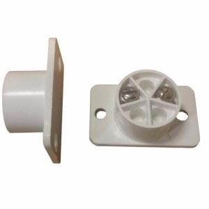 Knight Grade 1 2 Terminal White Flush Fit Door Intruder Alarm Contact