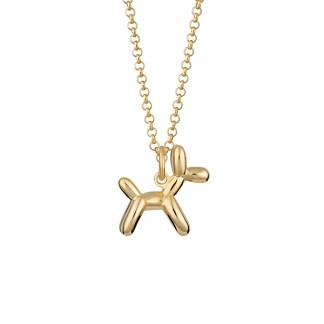 Lily Charmed Gold Balloon Dog Necklace