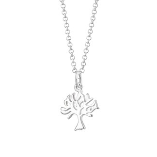 Lily Charmed Sterling Silver Tree Necklace