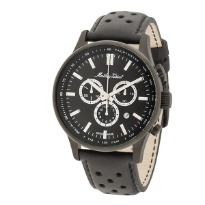 Mathey-Tissot Gent's Limited Edition (to75pcs per colour) Chronograph Watch with Genuine Leather Strap