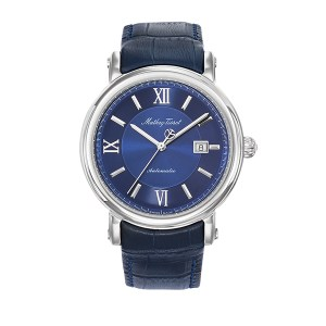 Mathey-Tissot Gent's Renaissance Automatic Watch with Genuine Leather Strap