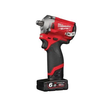 Milwaukee Power Tools M12 FIWF12-622X FUEL™ Impact Wrench Kit 12V 1 x 2.0Ah & 1 x 6.0Ah Li-ion