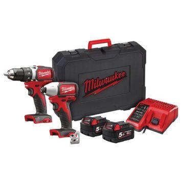 Milwaukee Power Tools M18 BLPP2A2 Brushless Twin Pack 18V 2 x 5.0Ah Li-ion
