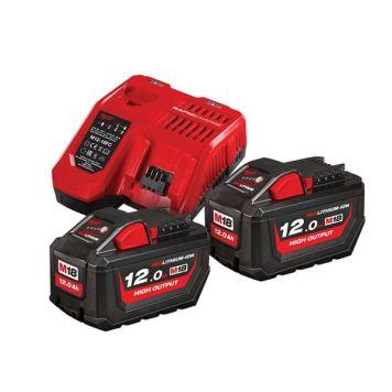 Milwaukee Power Tools M18 HNRG Battery Twin Pack 18V 12.0Ah