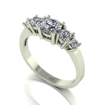 Moissanite 9ct Gold 1.10ct eq Lady Lynsey Half Eternity Ring
