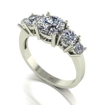 Moissanite 9ct Gold 2.05ct eq Lady Lynsey Half Eternity Ring