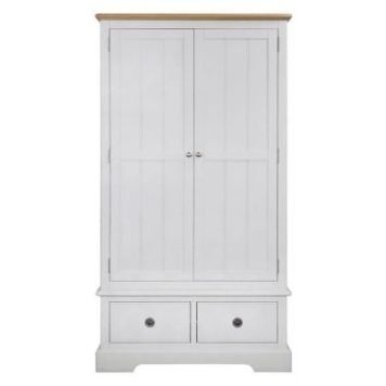 Olivia Oak 2 Drawer 2 Door Wardrobe