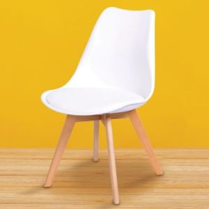 Set Of Four Malmo Dining Chairs Beech & White