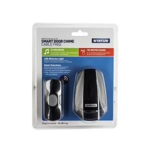 Status Wireless Plug in Door Chime with Nightlight - Black