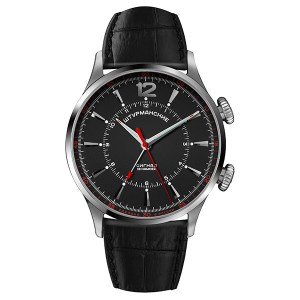 Sturmanskie Gent's Ltd Edt Mechanical Alarm Watch with Genuine Leather Strap