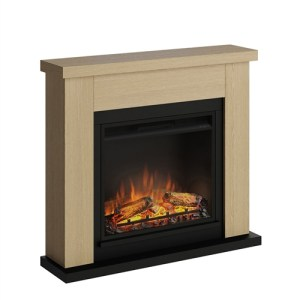 Tagu Frode Electric Fireplace - Natural Oak Complete Suite EU Plug