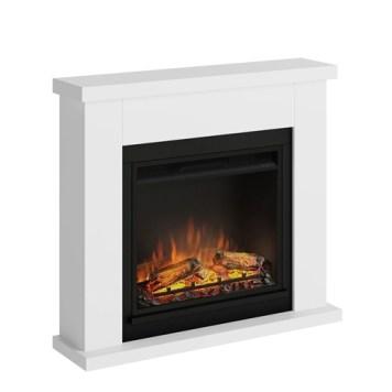 Tagu Frode Electric Fireplace - Pure White Complete Suite EU Plug