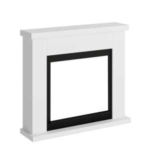 Tagu Frode Electric Fireplace - Pure White Mantel Only No Plug