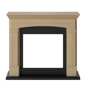 Tagu Helmi Electric Fireplace - Natural Oak Mantel Only No Plug