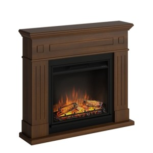 Tagu Larsen Electric Fireplace - Premium Walnut Complete Suite EU Plu
