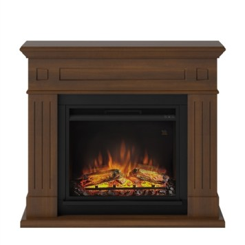 Tagu Larsen Electric Fireplace - Premium Walnut Complete Suite UK Plu