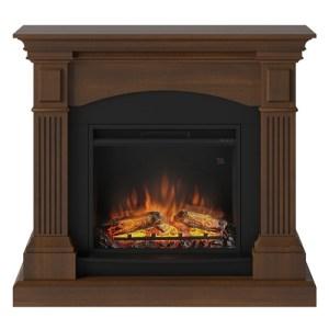 Tagu Magna Electric Fireplace - Premium Walnut Complete Suite EU Plu