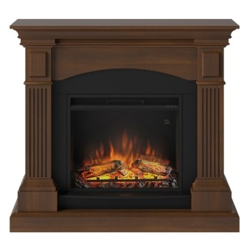 Tagu Magna Electric Fireplace - Premium Walnut Complete Suite UK Plu