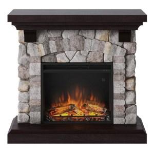 Tagu Reino Electric Fireplace - Rock Grey Complete Suite UK Plug