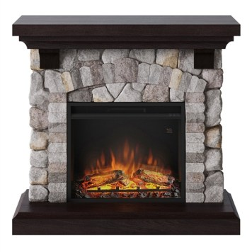 Tagu Reino Electric Fireplace - Rock Grey Complete Suite UK Plug