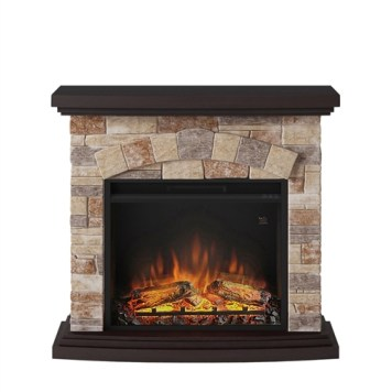 Tagu Tori Electric Fireplace - Stone Cream Complete Suite EU Plug