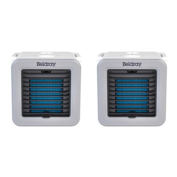 Twin Pack of Beldray Climate Cube - 3 in 1 Mini Air Cooler, Heater and Fan