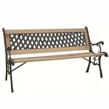 Zexum Iron & Hardwood Classic Garden Park Bench