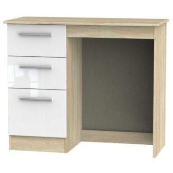 Buxton Desk White 3 Drawer