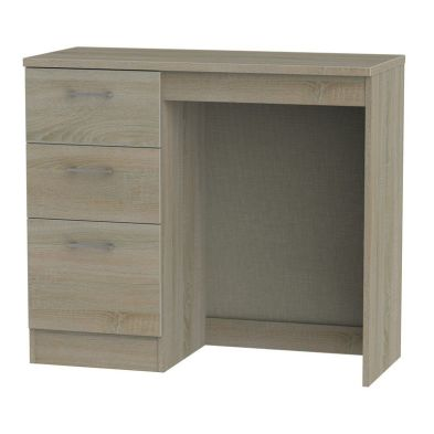 Elmsett Desk Brown 3 Drawer