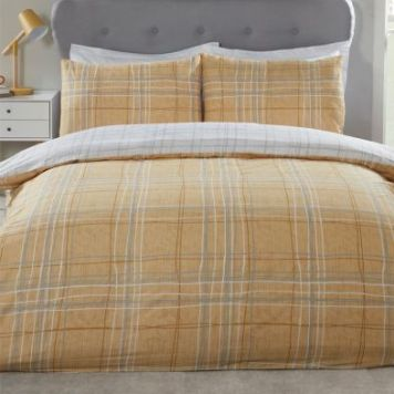 Hamilton McBride Harvard Double Duvet Cover Yellow