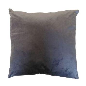Hamilton McBride Velvet Cushion 55 x 55cm Charcoal