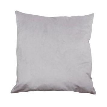 Hamilton McBride Velvet Cushion 55 x 55cm Silver