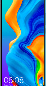 Huawei P30 Lite (128GB Peacock Blue Used Grade A) at £29.00 on Red (24 Month(s) contract) with UNLIMITED mins; UNLIMITED texts; 2000MB of 4G data. £22.00 a month.