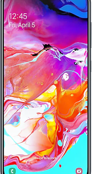 Samsung Galaxy A70 Dual Sim (128GB Black Used Grade A) at £9.00 on Red (24 Month(s) contract) with UNLIMITED mins; UNLIMITED texts; 6000MB of 5G data. £30.00 a month.