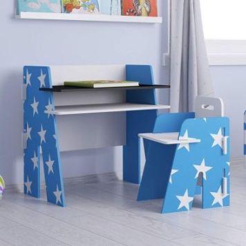 Stars Desk Blue 1 Shelf & Chair
