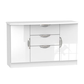 Weybourne Sideboard White 2 Door 3 Drawer