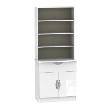 Weybourne Sideboard White 2 Door 4 Shelf 1 Drawer
