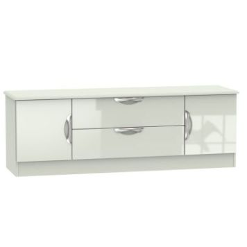 Weybourne TV Unit Cream 2 Door 2 Drawer