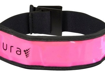 Aura LED Running Armband with Brand Bucket - Pink